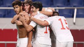 Brasilien und Spanien im Fußball-Finale