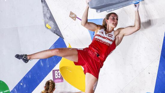 Jessica Pilz als Sechste im Kletter-Finale