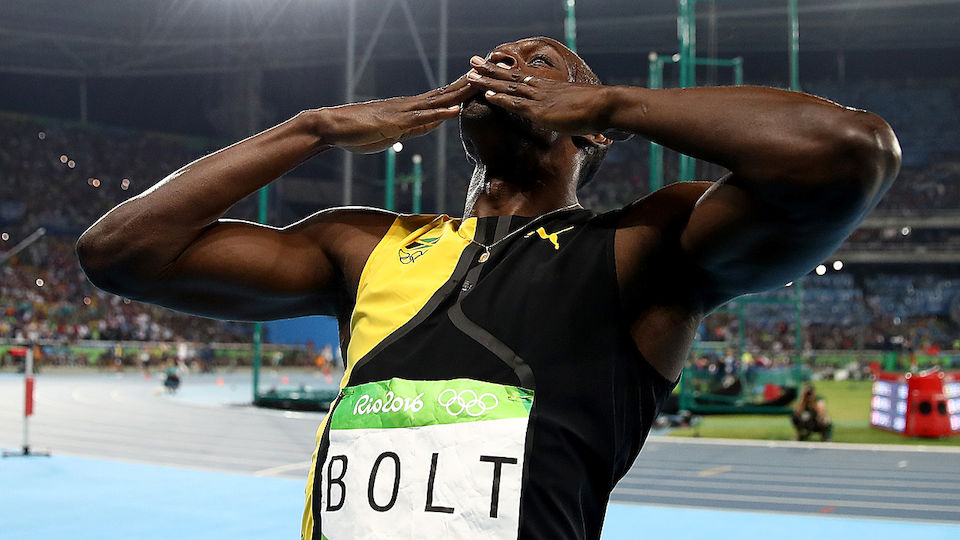 Die besten Bilder der Show von Usain Bolt über 100 Meter