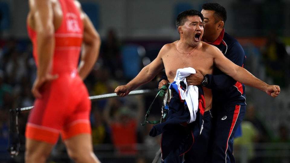 Ringer-Trainer strippen aus Portest - die Bilder