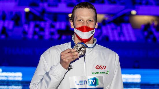Felix Auböck schwimmt in Budapest zu EM-Silber