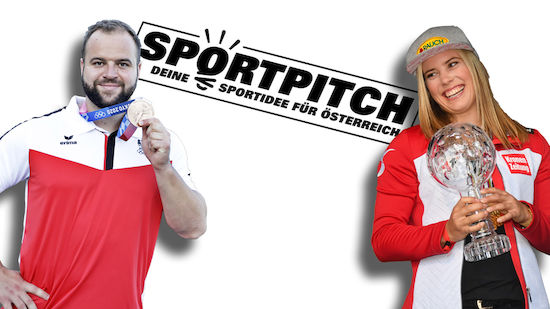 Liensberger und Weißhaidinger als Sportpitch-Fans