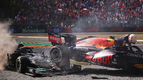Hamilton und Verstappen crashen wieder!