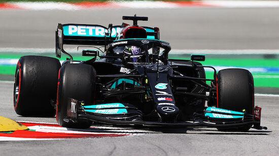 Hamilton setzt Tagesbestzeit in Spanien