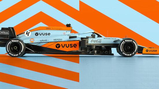 McLaren in Monaco mit Retro-Look am Start