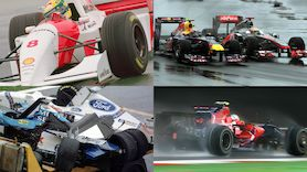 Chaotische Regenrennen: 10 höchst nasse Formel1-GP