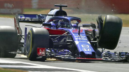 Heftiger Unfall von Hartley in Silverstone