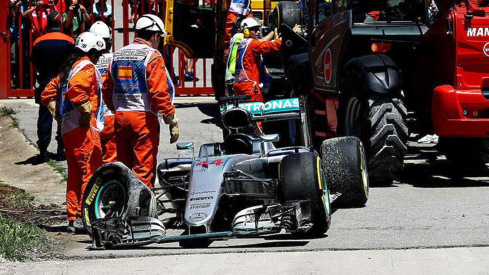 Mercedes Crash Spanien