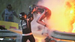 Horror-Crash! Haas fängt Feuer