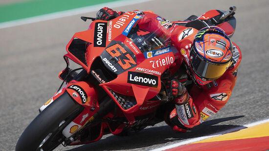 Doppel-Pole für Ducati in Aragon