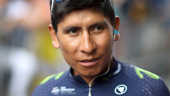 Kollision! Zwei Wochen Pause für Nairo Quintana