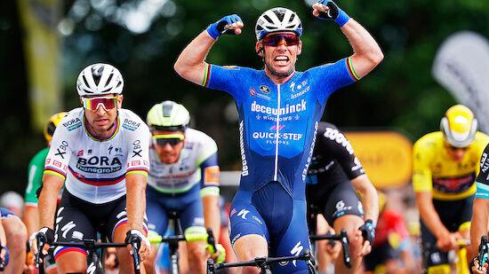 TdF: 34. Etappensieg! Cavendish holt Merckx ein
