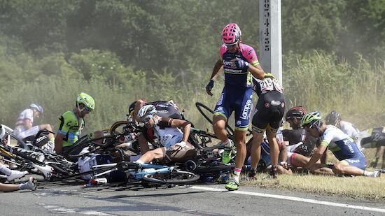 Zwei Massenstürze zum Auftakt der Tour de France