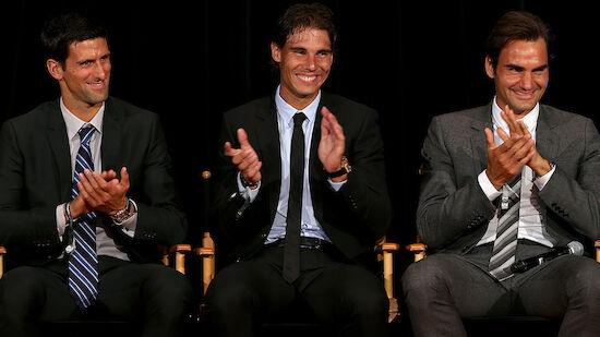 Federer und Nadal gratulieren Djokovic
