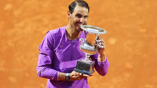 Rafael Nadal holt seinen zehnten Titel in Rom