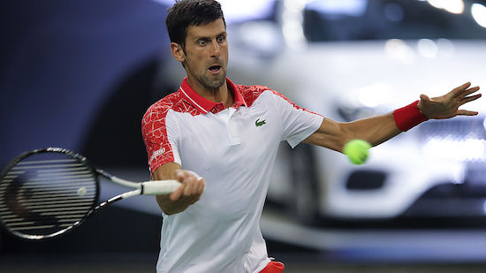 Novak Djokovic locker im Shanghai-Achtelfinale