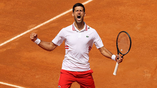 Nach Abbruch: Djokovic eliminiert Tsitsipas in Rom