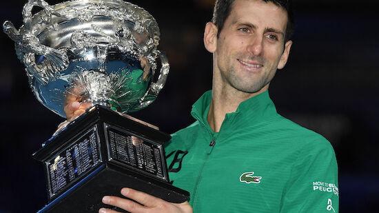 Djokovic gewann Australian Open bereits 9. Mal