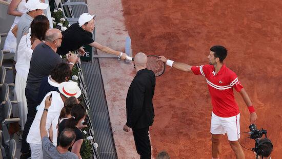 Djokovic mit Geste für Fan:
