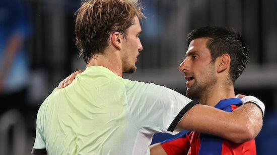 Djokovic macht vor Halbfinale Druck auf Zverev