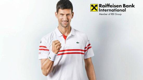 Djokovic wird Raiffeisen-Markenbotschafter