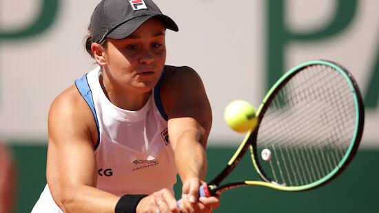 Barty bei French Open nur mit Mühe weiter