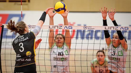 Linz/Steg gewinnt erstes Finalspiel gegen UVC Graz