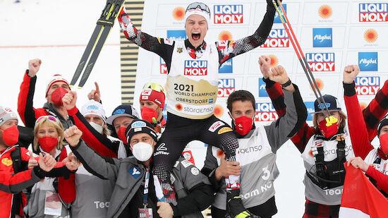 Österreichs Kombi-Team feiert seinen