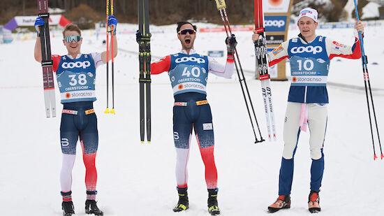 Norwegische Festspiele im Herren-Langlauf