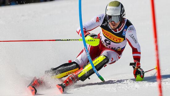 Feller nach 1. Slalom-Lauf: