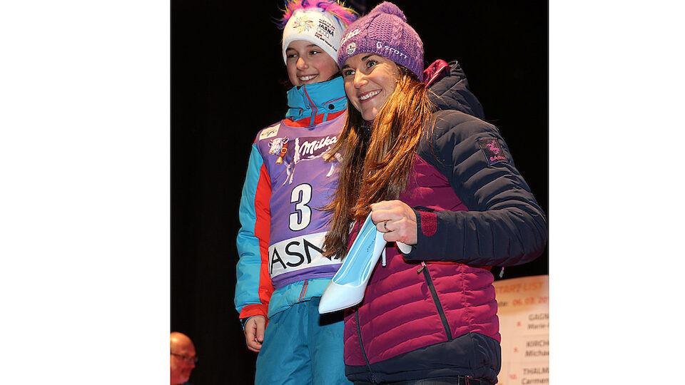 Bilder der Auslsoung für den Slalom in Jasna