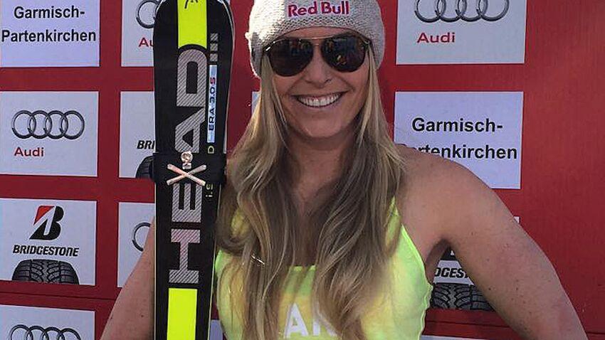 Ski auf lindsey nackt vonn Lindsey Vonn: