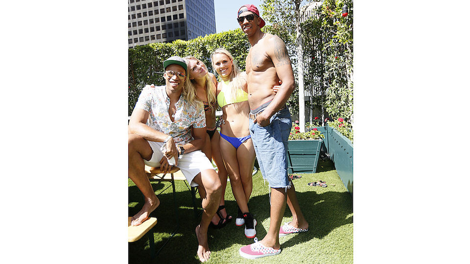 Lindsey Vonn bei einer Sommer-Party ihres Sponsors