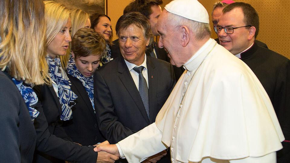 Der ÖSV zu Gast beim Papst im Vatikan