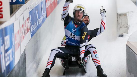 ÖRV-Duo Steu/Koller bei Heimweltcup am Stockerl