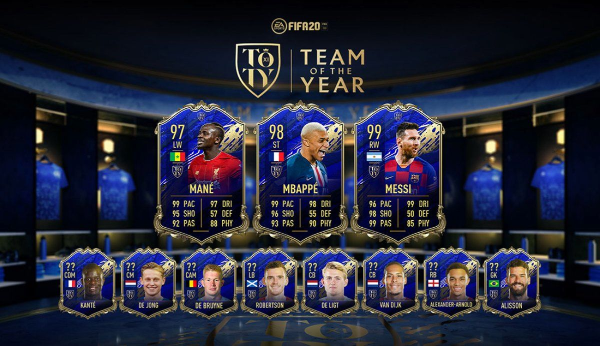Das FIFA Ultimate Team of the Year 2019